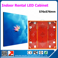 tEEHO 576x576mm indoor rental aluminum led display cabinet for P3 P6 indoor led video display wall
