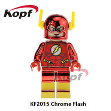 Single Sale Super Heroes Red Chrome Flash Custom Deadpool Spider-Man Bricks Christmas Building Blocks Children Gift Toys KF2015(China)