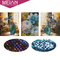 Meian 5D Special Shaped Diamond Embroidery Flower Vase Full DIY Diamond Painting Cross Stitch Diamond Mosaic