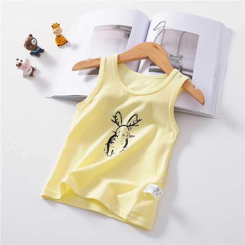 Summer Toddler Girls Boys T- shirt Vest Cartoon Rabbit Print Tops Blouse Cotton Casual Children Outfits