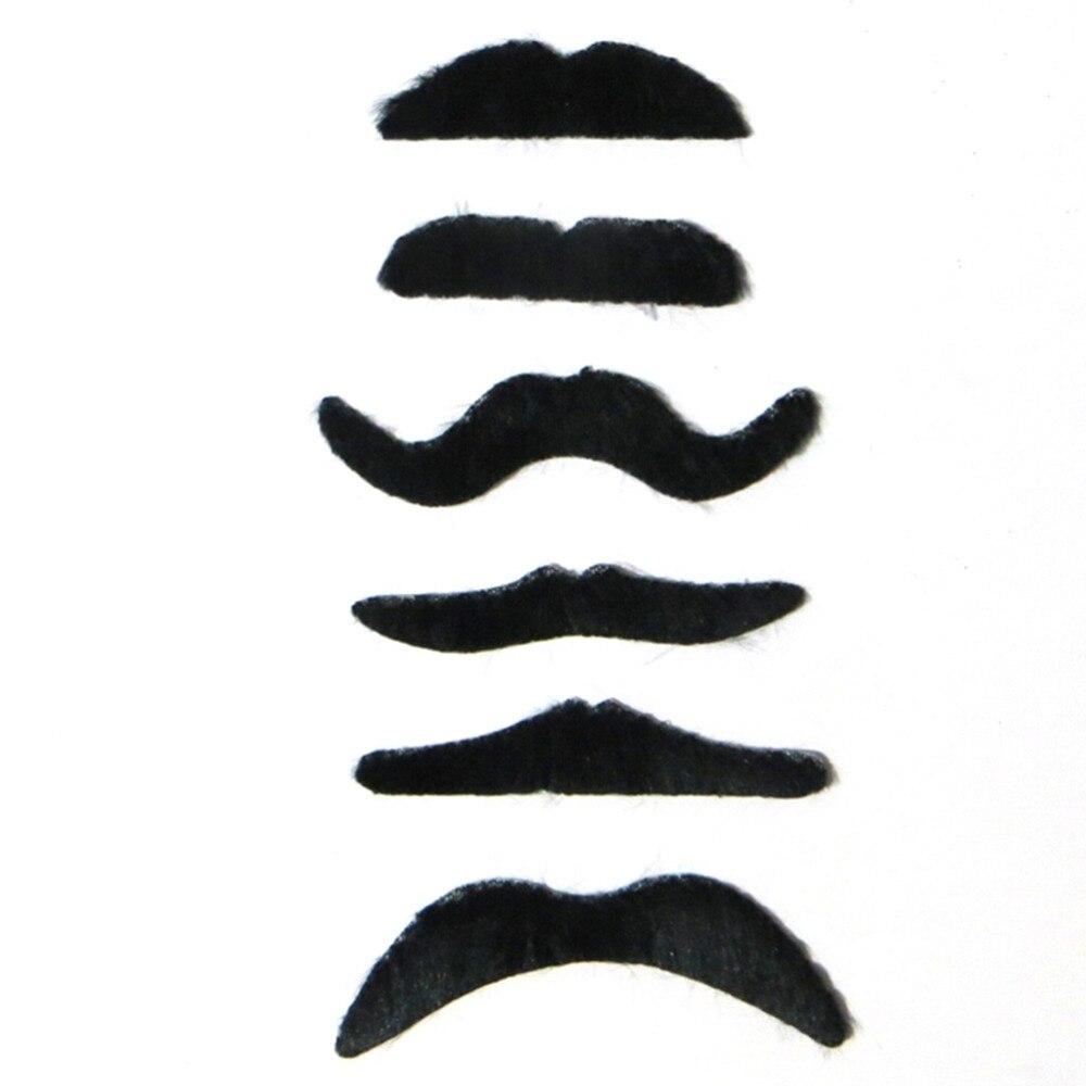 12pcs Stylish Costume Party Fake Beard Mustache Party Funny Beard Whisker B