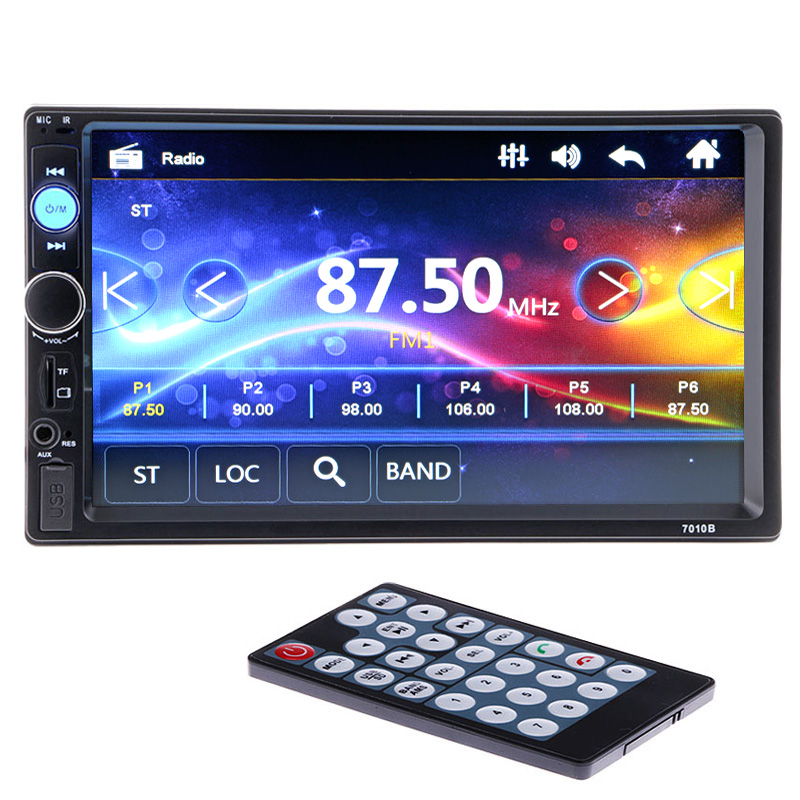 Universal 2 din Car Multimedia Player 7 ''Bluetooth Estéreo FM Radio Video Audio