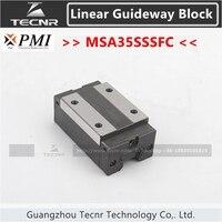 Taiwan PMI linear guideway slide carriage block MSA35S MSA35SSSFC slider for CO2 laser machine