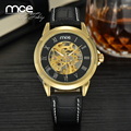 MCE Leather Relogio masculinos top Brand watches men luxury brand Automatic mens wristwatch 346