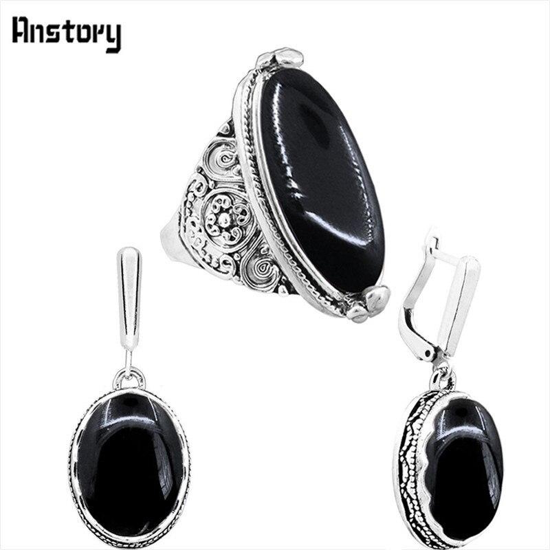 earring ring-Black