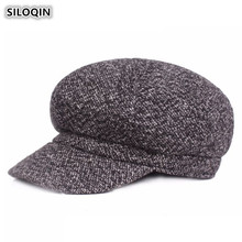 SILOQIN Couple Hat Fashion Trend Womens Newsboy Caps Autumn Winter Warm Hats For Men Women Western European Style Mens Beret