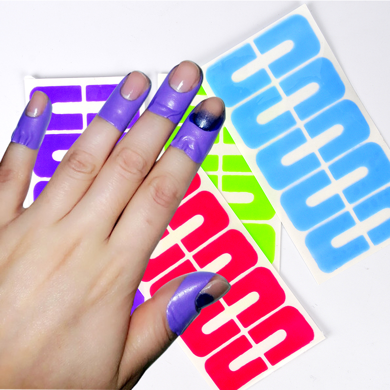 1 Sheet Plastic Peel Off Tape Palisade Nail Protector Easy Fast Clean Nail Art Painting Polish UV Gel Stamping Plate Tools