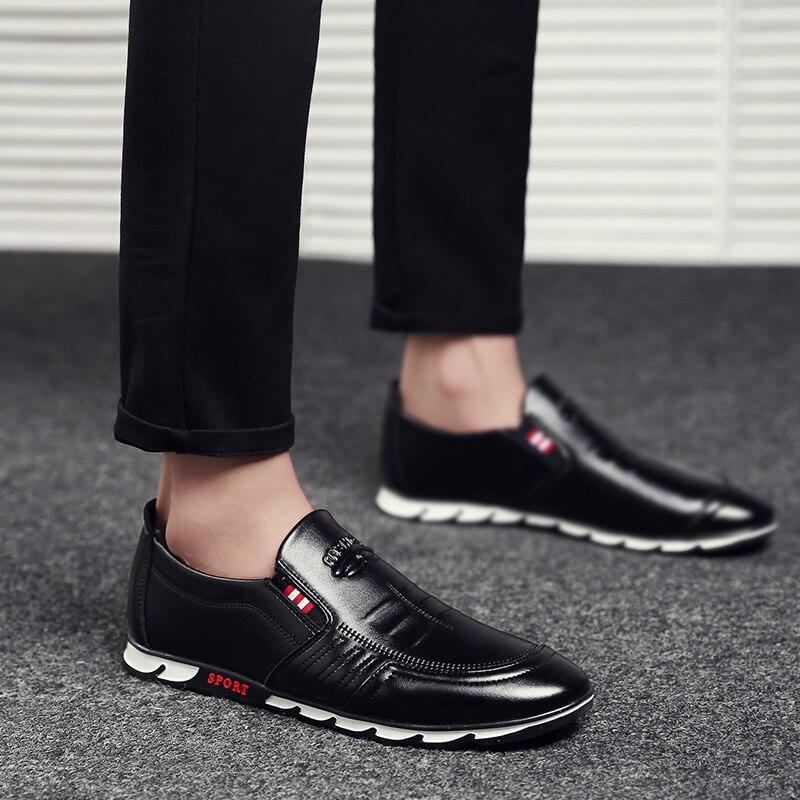 Mens Sneakers Loafer Black Shoes Online - MiraShop