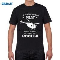 GILDAN stampato manica corta t shirt I'm un Elicottero Pilota Uomini Magliette di Raffreddamento Rispetto Al Normale Elicottero T-Shirt Da Uomo