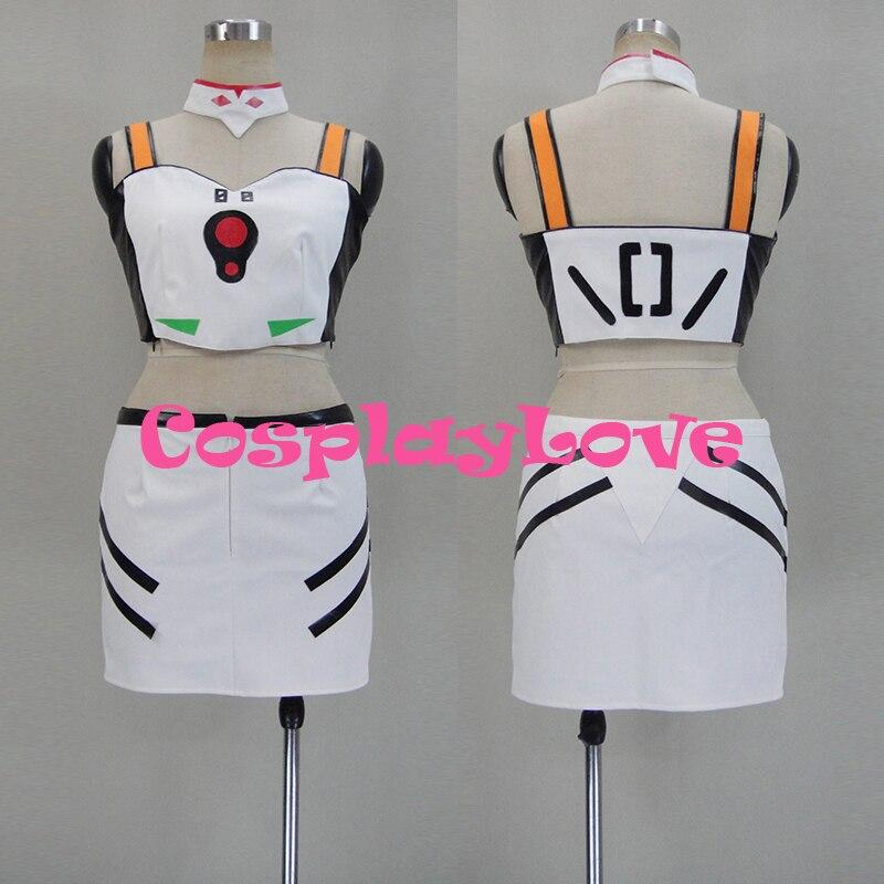 Новый индивидуальный заказ японского Аниме Евангелион EVA Rei Ayanami Косплэй костюм для Хэллоуина Рождество Косплэй любовь
