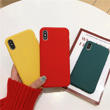 Candy Matte Color Case For iPhone 7 8 Plus 6 6s X Silicone Soft TPU Back Cover XR XS MAX phone case Capa