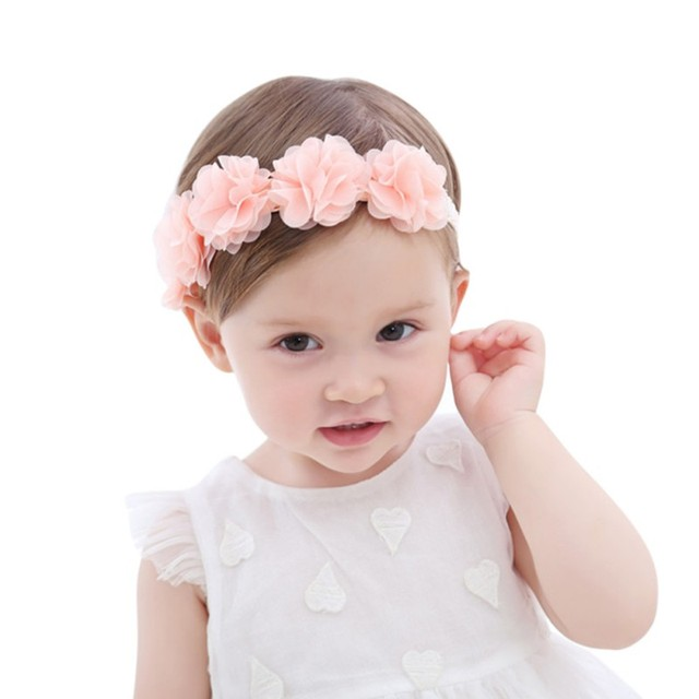 1 Piece Flower Floral baby headbands headwear girls hair bow hairband head  band infant newborn bows Toddlers Lace fcf99caa35a