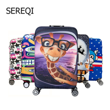 SEREQI2019 brand travel thick elastic color suitcase, suitable for 18-32 inch suitcase travel accessory case
