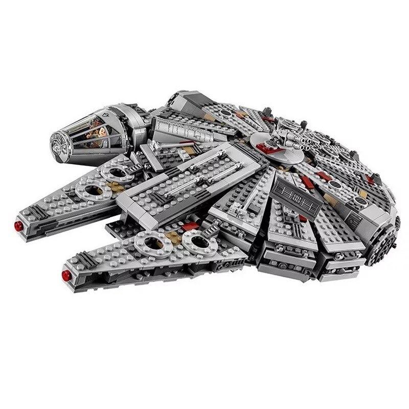 1381Pcs Millennium Falcon Star Wars Set Bricks Models & Building Blocks Toys for Children Legoing Starwars drop shipping игровой набор mattel star wars tie fighter vs millennium falcon 2 предмета cgw90