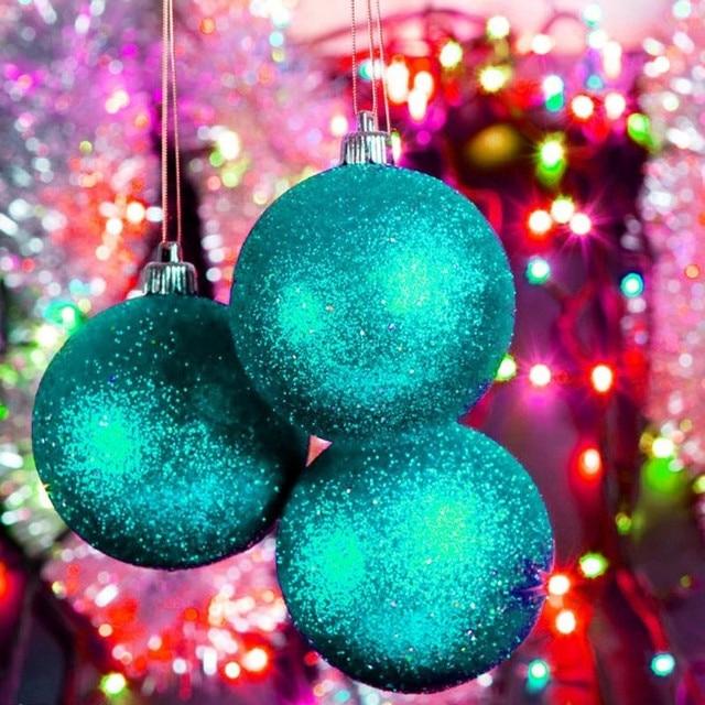 24pcslot christmas tree decor ball bauble hanging 3cm plastic christmas balls gifts for the - Plastic Christmas Balls