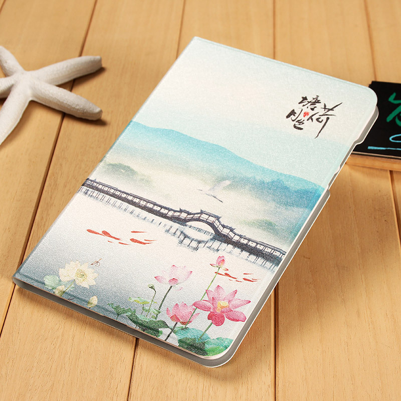 Fashion Chinese Classical Art Painting Standing Cover Case for Xiaomi Mi Pad 2 Gift
