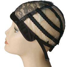 5 шт./партия черная пластиковая сетчатая крышка s для изготовления париков ткацкая крышка с регулируемым ремешком s m l Размер