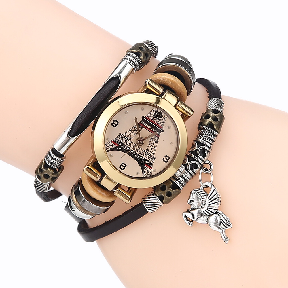 New Fashion Good Quality Quartz Women Watch With Leather Strap