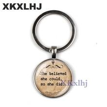 XKXLHJ Vintage Jesus Christian Mens Keychain Car Buckle Jewels Inspiring Belief Bible Jewelry