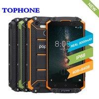 Globlal Version POPTEL P9000 MAX IP68 waterproof mobile Phone 9000mah 4GB 64GB 5.5 MTK6750 Octa Core 13MP NFC OTG 4G smartphone