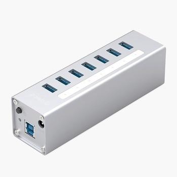 Oricoa A3H7-V2-SV USB 3.0 Hub 7 Port 5 Gbps High Speed Transmission for Laptop AU EU UK US Plug