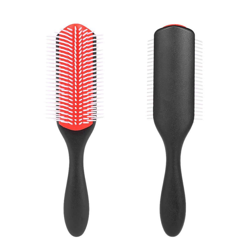 1 ピースヘアブラシ頭皮マッサージの櫛静電気防止ソフト Detangler ヘアカールストレート美容スタイリングツール