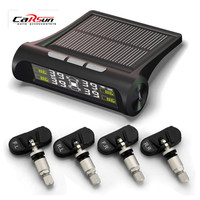 New Car Wireless Tire Pressure Monitoring System Solar Power TMPS Digital LCD Color Display With 4 Internal Sensors