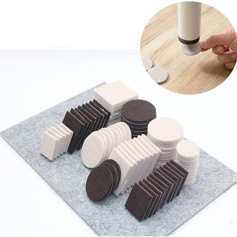 72pcs 122pcs Self Adhesive furniture leg pad Table Chair leg protector Feet Floor Anti Slip mat Bumper DIY Furniture Accessories