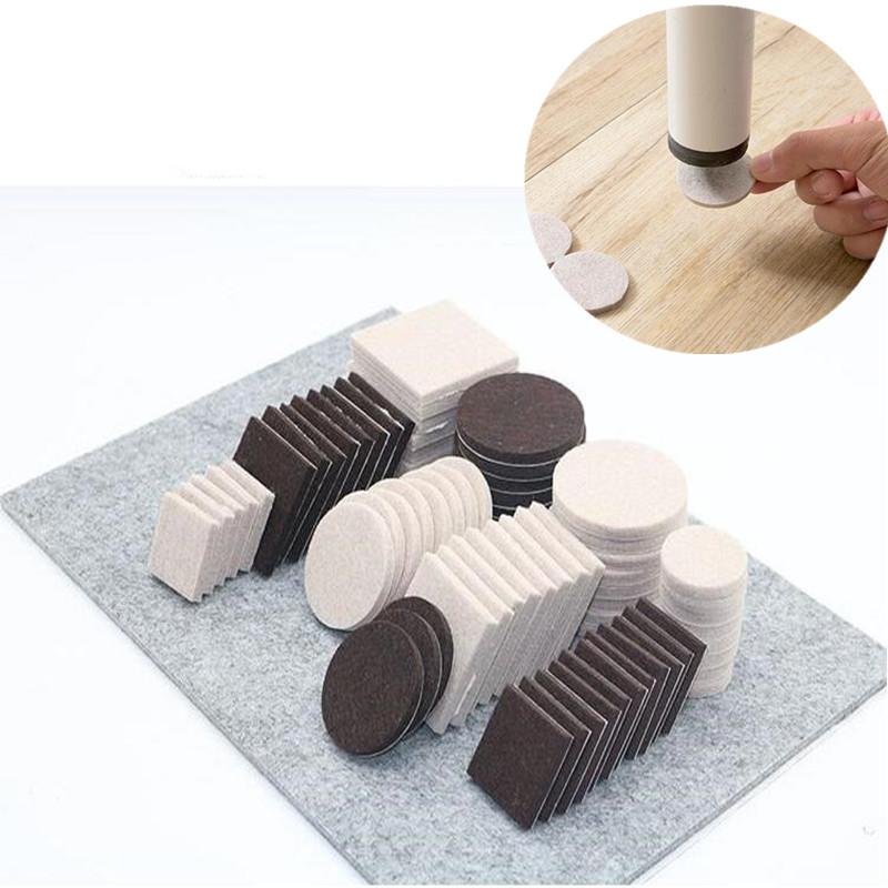 72pcs-122pcs Self Adhesive Furniture Leg Pad Table Chair Leg Protector Feet Floor Anti Slip Mat Bumper DIY Furniture Accessories