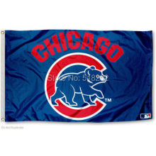 Chicago Cubs wordmark Flag 3×5 FT 150X90CM MLB Banner 100D Polyester Custom flag, free shipping