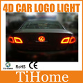 Free envio vw tiguan passat 4d levou logotipo do carro luz/lamp, 4d led carro lâmpada crachá para vw tiguan passat