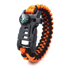 Unisex Bracelet Braided Multi-function Survival Outdoor Camping Emergency Safety Rescue Rope Bracelets
