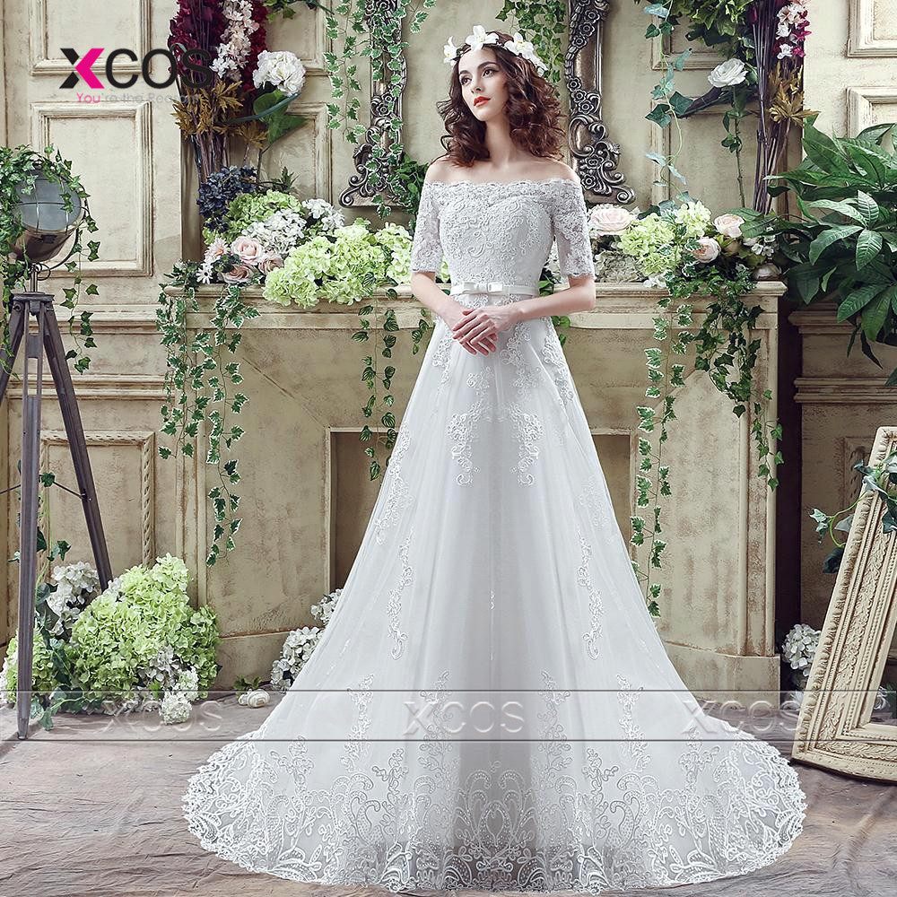 greek country style wedding dresses lace half sleeve a line elegant white bridal dress white gowns lace up hochzeitskleid sa336