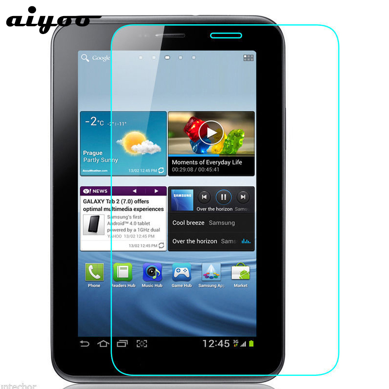 Aiyoo 9H Tempered Glass Screen Protector For Samsung Galaxy Tab 2 7.0 P3100 P3110 GT-P3100 GT-P3110 Anti Scratch Protective Film