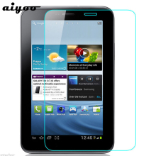 цена на Aiyoo 9H Tempered Glass Screen Protector for Samsung Galaxy Tab 2 7.0 P3100 P3110 GT-P3100 GT-P3110 Anti Scratch Protective Film