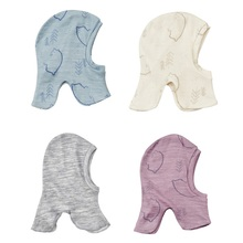 Merino wool kids thermal balaclava face masked baby head hat windproof cap for 0 6 years old