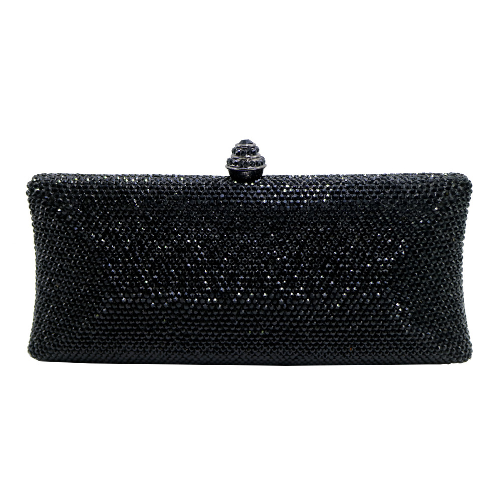 Aliexpress.com  Buy Glitter Hard Case Black Crystal Evening Box Clutch Bags And Party Evening ...