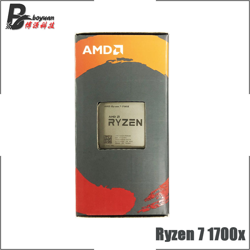 AMD Ryzen 7 1700X R7 1700X 3 4 GHz Eight Core CPU Processor YD170XBCM88AE Socket AM4