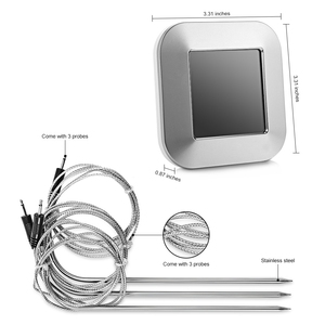 Image 4 - مقياس حراري رقمي للحوم احترافي مع 3 مجسات درجة حرارة من الفولاذ المقاوم للصدأ لأدوات إنذار درجة حرارة المطبخ