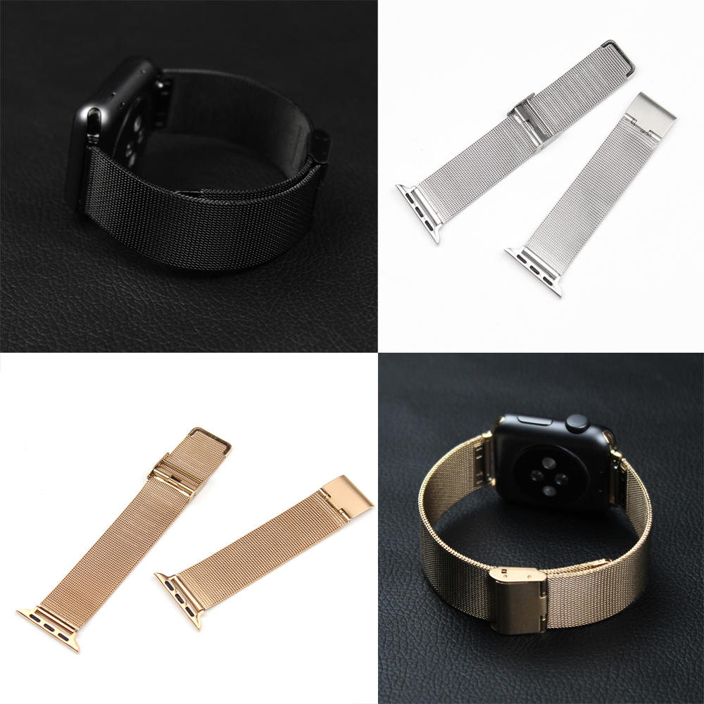 38mm 42mm Stainless Steel bands Net Milanese Elegant  Metal Watch Band Bracelet Strap for Apple Watch Iwatch band original xiaomi steel net watch band for miband