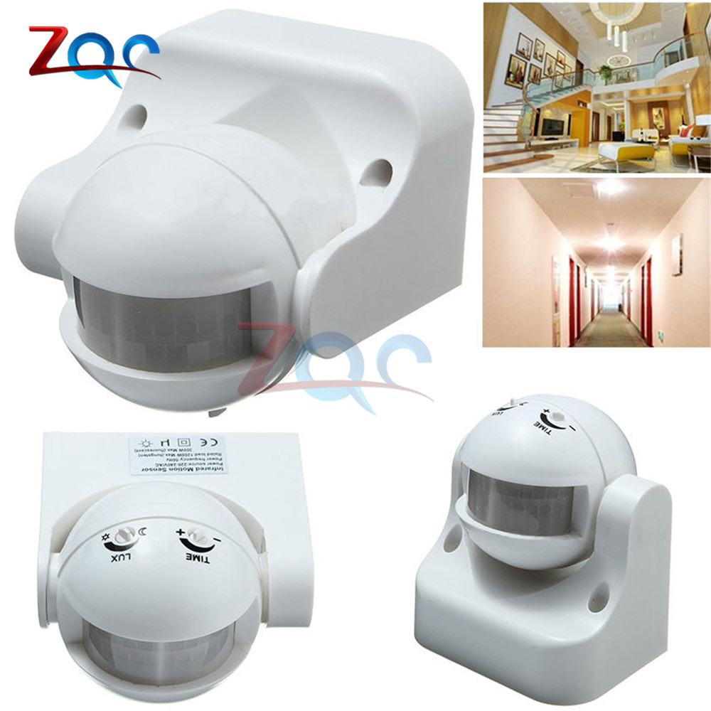 AC 220V-240V 180 Degree Outdoor IP44 Security PIR Infrared Motion Sensor Detector Movement Switch Max 12m 50Hz 3-2000LUX xsav11801 inductive proximity switch speed sensor motion rotate detector 0 10mm dc ac 24 240v 2 wire 30mm replace telemecanique
