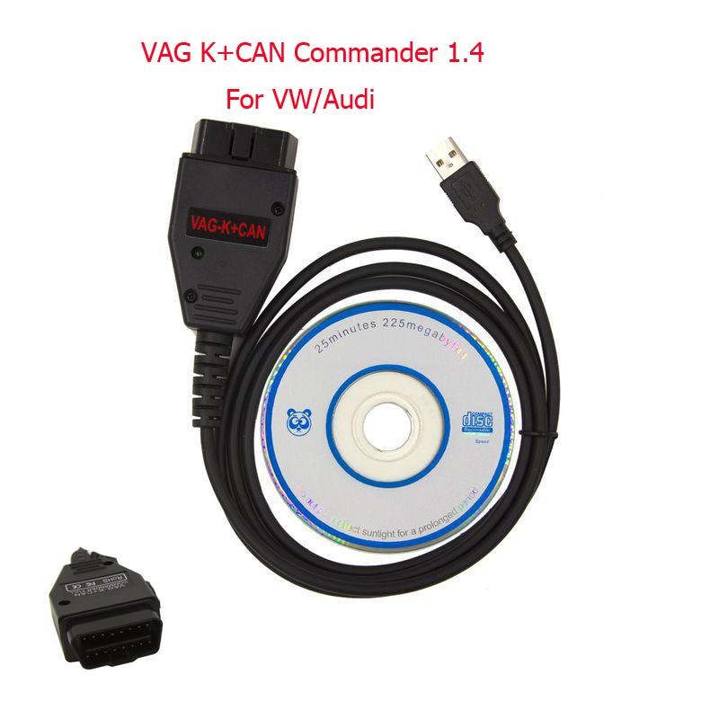 VAG K + CAN Commander 1.4 Completa OBD 2 Diagnostica Scanner Cavo Circuiti Integrati di alta Qualità OBD2 Connettore Adattatore Per VW AUDI SEDE SKODA
