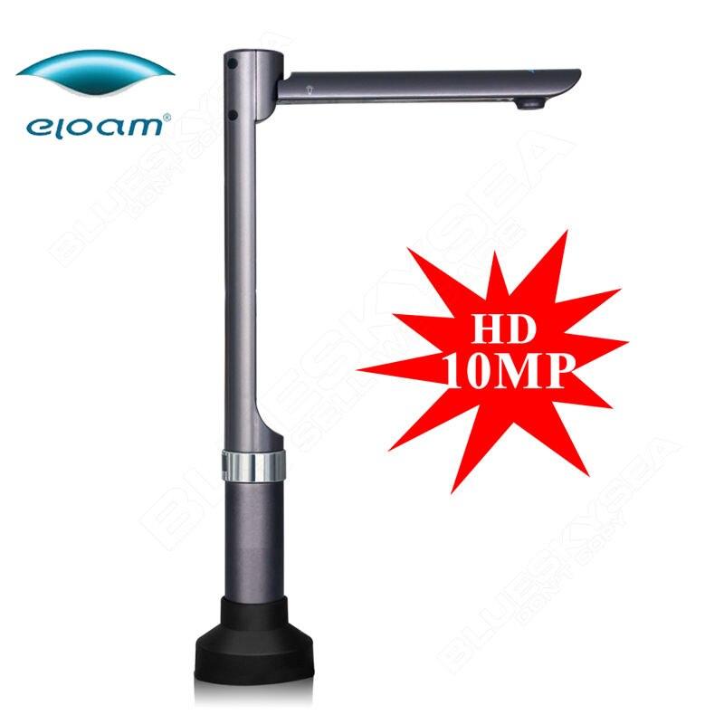 Eloam S1010 высокое Скорость A4 сканер документов 24bit HD 10MP Камера сканирования книга удостоверение личности JPG PDF фото визуальный ведущий OCR