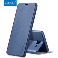 For Samsung Galaxy A3 A5 A7 2017 Luxury Stand Cover Flip Case X Level Brand PU