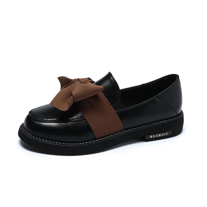 Ins petites chaussures en cuir femme Version coréenne du vent britannique sauvage une pédale unique chaussures Sen femme fond souple marée japonaise
