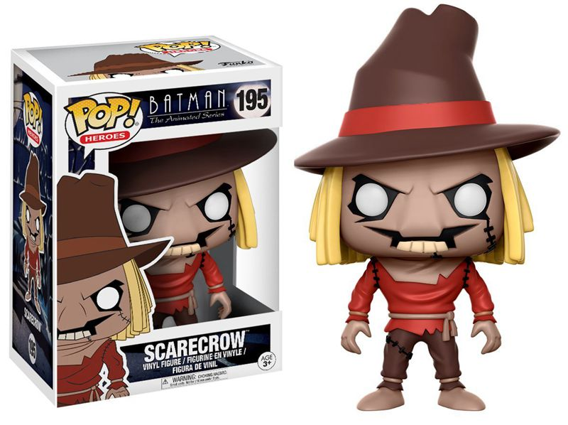 Funko pop official DC: Batman Animated BTAS - Scarecrow Vinyl Action Figure Collectible Model Toy with Original Box