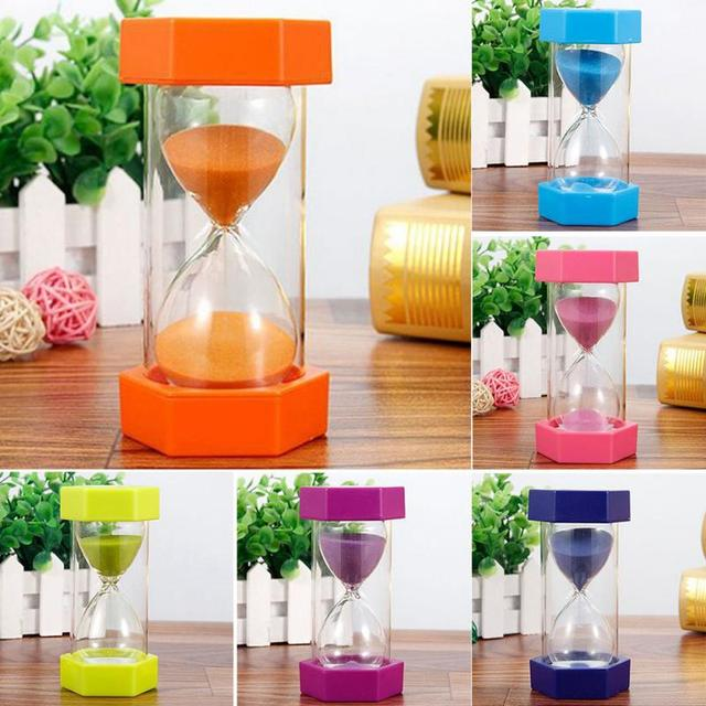 2018 Sand Clock 5minutes /10minutes/15 minutes Hexagonal Household Hourglass Kid Gift Sand Clock Decorative Sand Timer