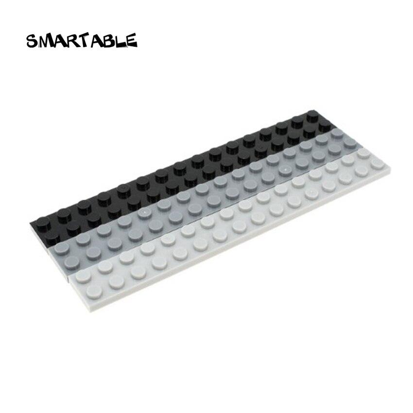 Smartable Plate 2X16 Building Block Part Toys For Kids Educational Creative Compatible Major Brands 4282 MOC GIFT Toys 10pcs/lot