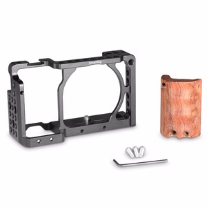 Image 4 - SmallRig for sony a6000 accessories for Sony A6300 / A6000 / ILCE 6000 / ILCE 6300 Cage W/ Wooden Handle Dual Camera Rig    2082