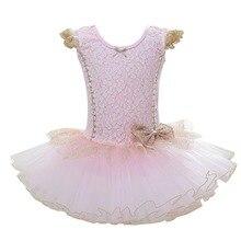 Elegant Kids Girls Fly Sleeve Ballet Dress Tutu Slim Princess Dancewear Performance Custome Cute Dance